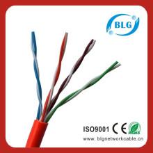 Cable y cables Cat5e UTP 24AWG 4 pares de cables de comunicación de datos