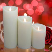 Bewegliche Docht flammenlose led Kerzen