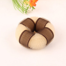 Blonde Velcro Knitted Nylon Hair Donut (BUN-23)