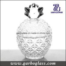Pot en cristal en forme d'ananas en verre avec couvercle