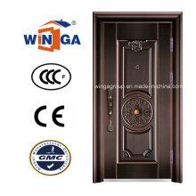 Mittlerer Osten Markt Sicherheit Stahl Metall Kupfer Tür (W-ST-05)