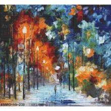 Mural de pintura al óleo de poesía de arte de mosaico de vidrio colorido