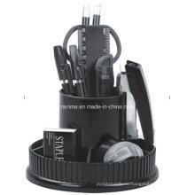 Пластиковый стол для ротации канцелярских товаров в черном цвете406