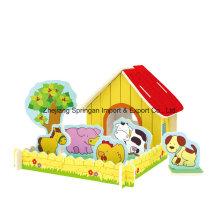 Brinquedos de madeira para brinquedos DIY Casas-Pastoral Fazendas
