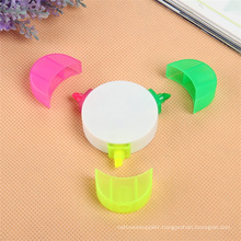 3 Color in 1 Flower Highlighter Pen for Gift