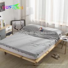 Ropa de cama casera / Nuevo estilo 100% algodón que hace punto Sistemas simples japoneses del lecho del color sólido del estilo