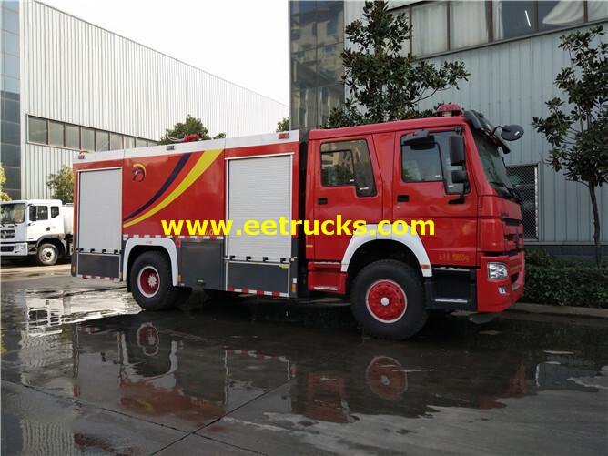 8000 Litres HOWO Fire Rescue Trucks