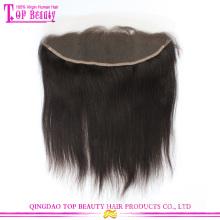 Dentelle de cheveux humains non transformés brésilien vierge vente chaude partie libre frontale 13 x 4 naturel directement avec les cheveux de bébé