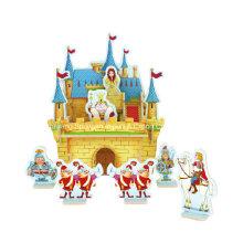 Brinquedos Collectibles da madeira para DIY Casas-Castelo da princesa