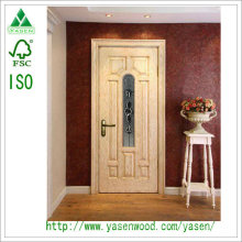 Light Color Hot Selling China Solid Wood Door with Groove Decorations