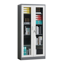 2 Door Glass Door Black storage Cabinets