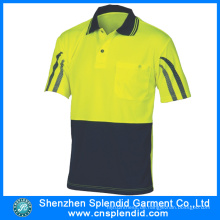 China Wholesale Dri Fit Polo Shirts mit reflektierendem Streifen