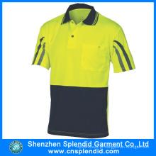 China Wholesale Dri Fit Camisas Polo com Stripe Refletivo
