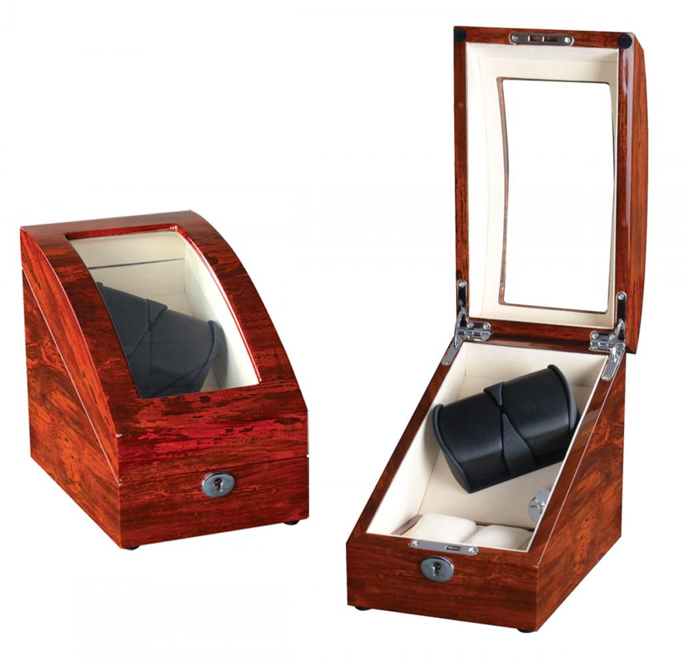 Ww 8221 Wooden Watch Winder For Two Watches