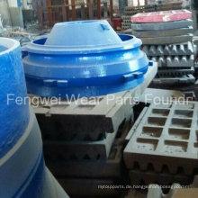 OEM Brecher-Verschleißteile-Schüssel-Auskleidung, Backenplatte für Metso