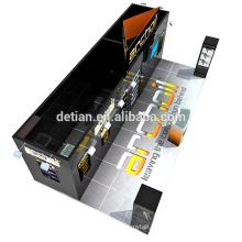 Detian offre le stand généreux d'exposition noir de 20x30ft avec la bannière de coup