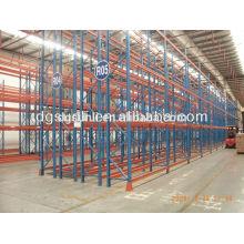 Caliente venta de bastidores de almacenamiento de doble plataforma profundo del metal y estante ajustable