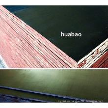 Contrachapado de construcción de 18mm con núcleo de álamo de película de Brown (HBC022)