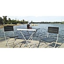 Outdoor Patio Furniture-teck bois 3pc chat ensemble