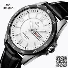 Fashion Man en acier inoxydable étanche quartz montre montre-bracelet 72191