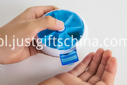 Promotional Plastic 7-Day Rotate Pill Box (3)