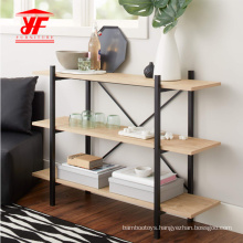 3 Tiers Bookshelves With Metal Frame Modern