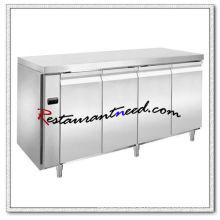 R308 4 Doors Luxurious Fancooling Undercounter Refrigerator/Freezer