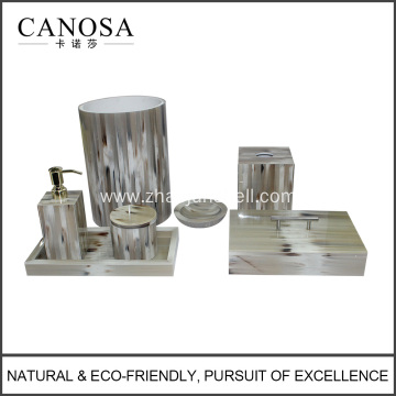New Producuts Handmade Imitation Horn Bath Set for Luxury Hotel