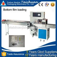 TCZB-250X Automatic bottom film loading rotary flow wrap machine