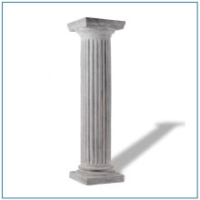Simple Design Fiberglass Roman Columns For Sale