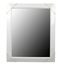 Weiße Kunststoff-Spiegel-Rahmen