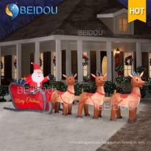 Navidad gigante trineo inflable al aire libre inflable Decoraciones de Navidad Trineo