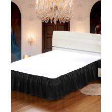 Jupe de lit en soie 19 momme enveloppante jupe de lit à volants avec ceinture élastique réglable Queen King et C-King