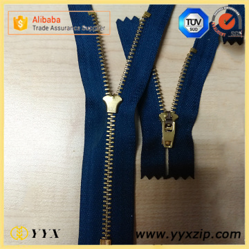 Azul marino 4YG Semi Auto Lock Metal Zipper