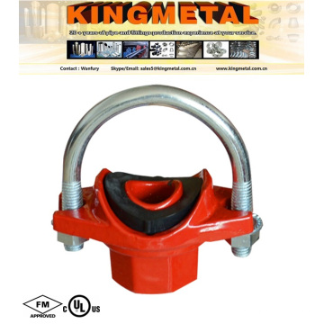 FM UL Approved Ductile Iron Grooved U-Bolted Mechanical Tee Victaulic