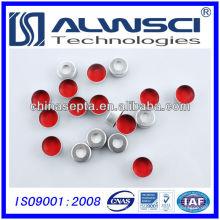 melhor preço septo de silicone de 11 mm ptfe com tampa de crimpagem de alumínio pré-montada