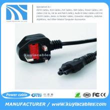 Nouveau câble à 3 broches UK C5 Cloverleaf Clover Leaf Câble d'alimentation électrique pour adaptateurs pour ordinateurs portables