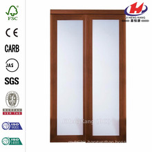 48 in. x 80 in. 2000 Series Composite Cherry 1-Lite Tempered Frosted Glass Sliding Door