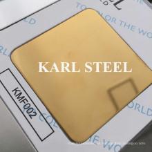 Hoja de espejo de color acero inoxidable 8k Kmf002 para materiales de decoración