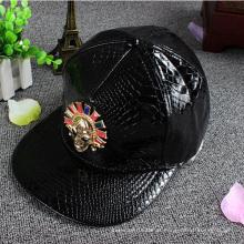 Chapéu de snapback de alça de couro de bordado