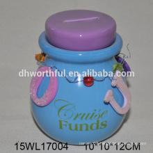 Fashionable design ceramic money banks in multi color