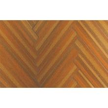 12.3mm E0 HDF AC4 a stratifié le plancher stratifié par tranchant ciré par teck