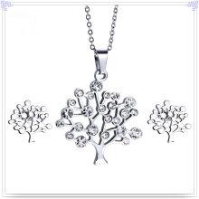 Joyería de cristal accesorios de moda joyería de acero inoxidable conjunto (js0254)