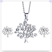 Crystal Jewelry Fashion Accessories Stainless Steel Jewelry Set (JS0254)