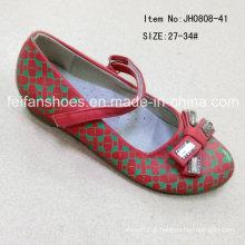 Moda doce crianças sapatos única princesa sapatos sapatos de dança (ff0808-41)