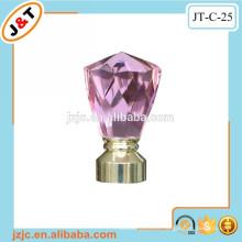 Varilla flexible doble de la cortina con la decoración rosada decorativa de la barra de la cortina de cristal