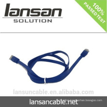 CAT6 Cable Flat With RJ45 Connector Optional Colors