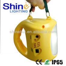 Libre de contaminación con la lámpara de alta iluminación linterna solar acampar llevó linternas al aire libre impermeable