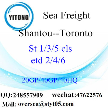 Shantou Port Sea Freight Shipping ke Toronto