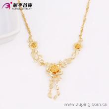 Joyería de moda Xuping más caliente 18k Collar de mujer de flor chapada en oro en aleación de cobre ambiental 42714